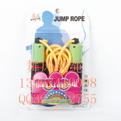 Standard wind plastic jump rope dance students jump rope foam handles skip counting jump rope
