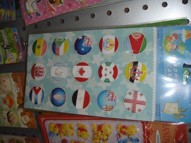 各国圆形国旗贴纸