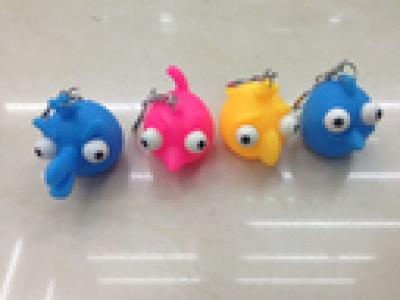 Supply winking Keychain winking bird pond rubber Keychain
