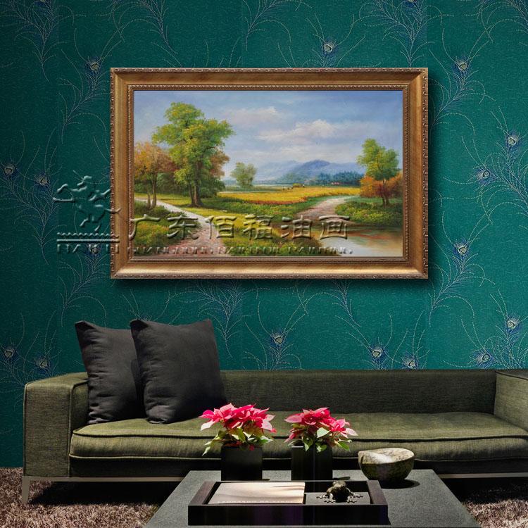油画手绘客厅,房间,玄关风景花卉油画酒店装饰画 可画