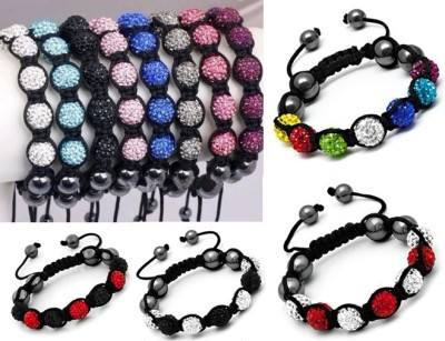 Best selling bracelets 7 diamond ball bracelet fashion lovers of Shambhala trade jewelry Crystal bracelet