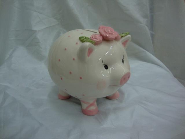 陶瓷小猪存钱罐 储蓄罐 创意礼品摆设 可爱 招财进宝