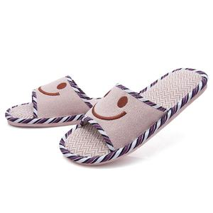 Piggy Lele cute home linen slipper women summer home male couple Korea indoor floorings slippers summer