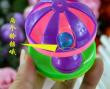 The | plastic pet toy dog toy toy dog bell and mixed hair