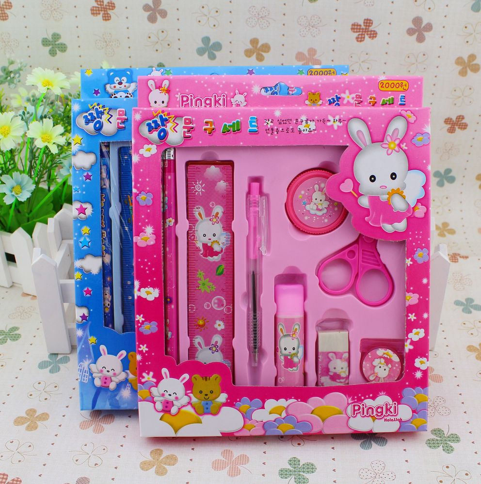 9 Piece Stationery Set Gift Birthday For Children Of Students Student Prizes Wholesale
