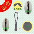 Green plastic zipper bag zipper climbs the rope handle puller