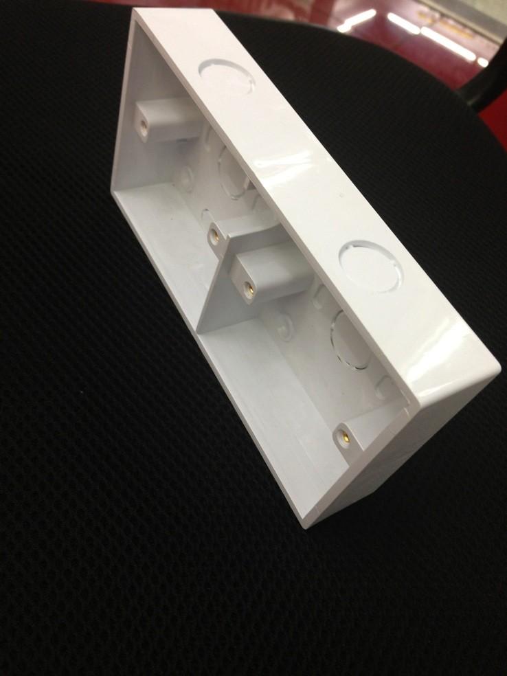通用86型双接线盒墙壁开关盒 双联暗线开关插座底盒暗盒