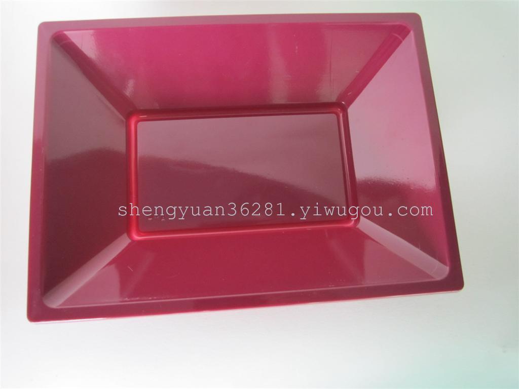 厂家直销一次性ps吸塑小号长方形塑料盘/碟/水果托盘