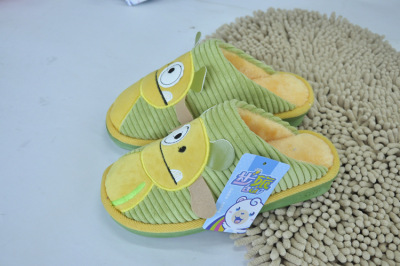 Wholesale Brigade 0022 new skid at home in winter warm shoes, cotton-padded shoes wholesale couples cartoon cotton slippers