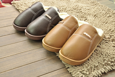 Jia Nan13-68 Leather PU   home cotton-padded shoes warm thick cotton-padded shoes couple Pack of cotton-padded shoes wholesale