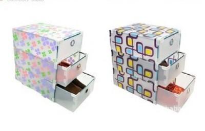 Three layers of transparent PP plastic box drawer box drawer type shoe factory direct folding box