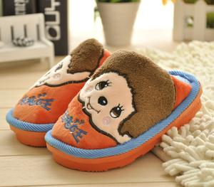 Drag Mong 8009 big face doll cartoon child children cute cotton slippers and cotton slippers wholesale
