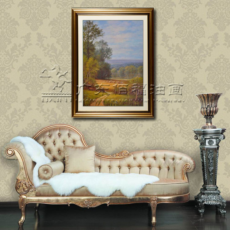 油画 手绘油画 高档欧式风景 田园风景油画 客厅房间装饰 酒店高档画