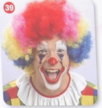搞笑小丑假发 球迷发 万圣节假发