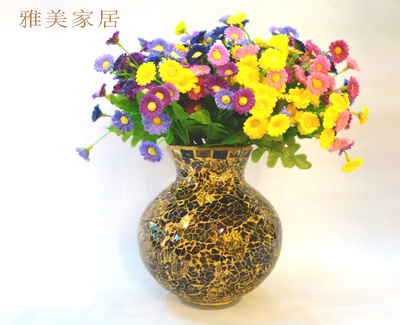 European classic glass vases handmade mosaic sitting room flowers Vases home decoration