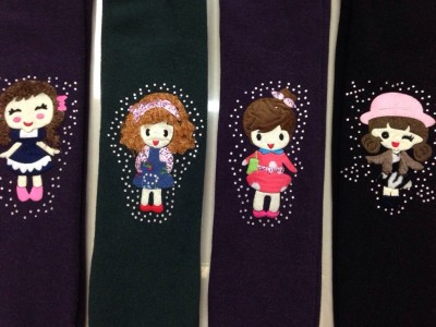Qiaogege Children mirovelvet  warmpants (Little BeautyA02)