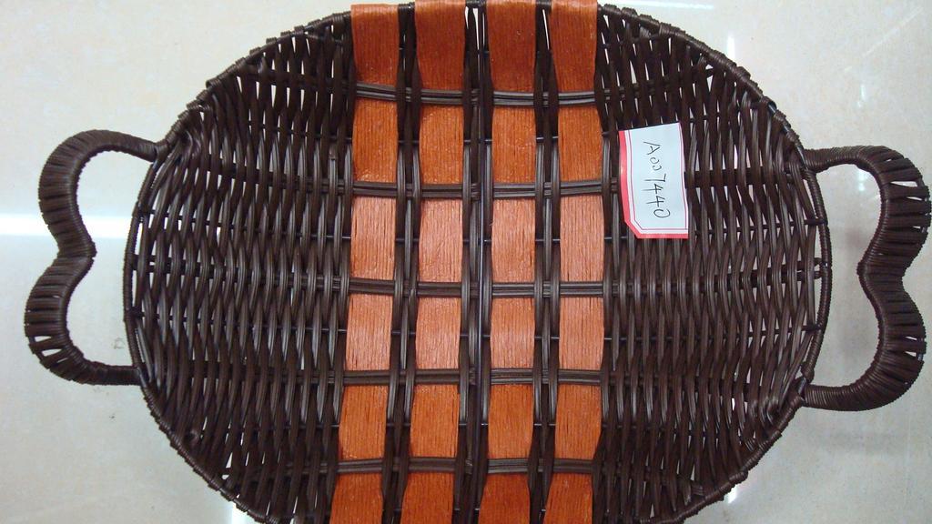 编织篮 手工 塑料篮 储物 面包篮 篮子