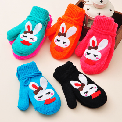 Korean cute rabbit bun double gloves factory direct wholesale