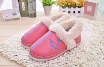 Home wholesale PU leather bag with warm cotton-padded shoes couple rabbit new cotton-padded shoes sole rogue 3263/3363
