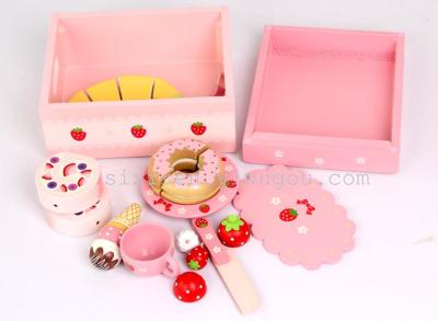 Original authentic 2013 new bow Strawberry Shortcake fruits group long wooden play house toys