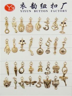 Metal decorative buttons metal decorative zipper dress rhyme button production