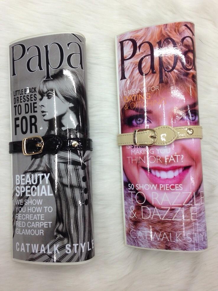 欧美大牌高档撞色女包 时尚papa海报杂志包晚宴包