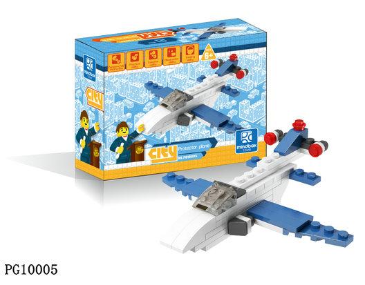 飞机战斗机直升机乐高式全环保拼装积木塑料拼插玩具
