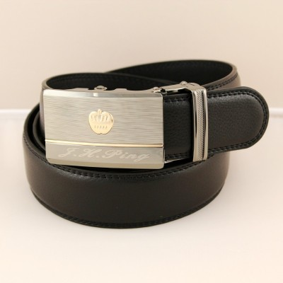 Authentic Jing Huang Ping local gold men's automatic leather belt wholesale
