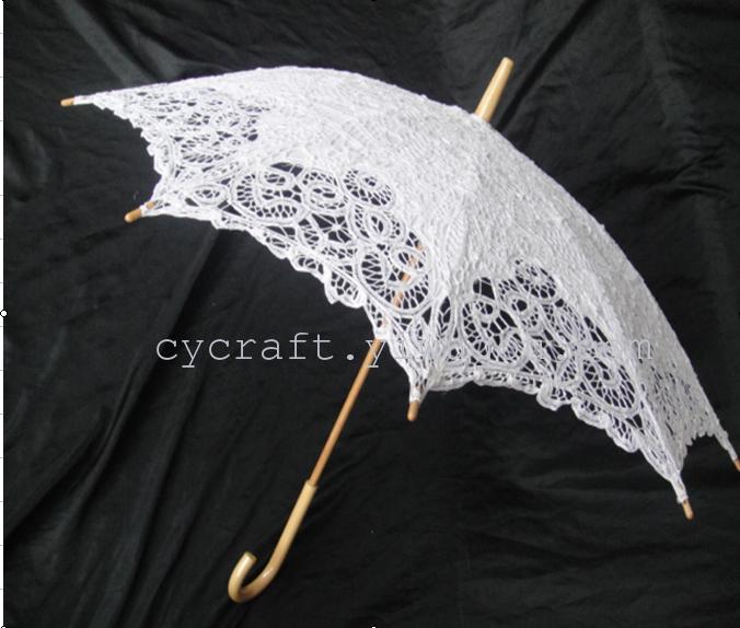 cy207b绣花伞 家居装饰 工艺伞 抽纱伞 欧式婚纱伞