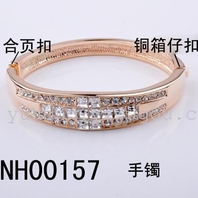 Retro type electroplating gold bracelets, bangles