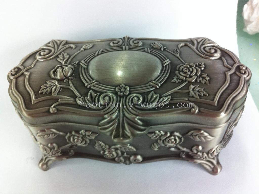 哥特式锡制古典欧式公主首饰盒珠宝盒 复古大号带锁扣