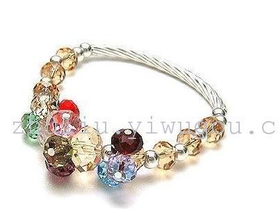 Crystal bracelets, bangles