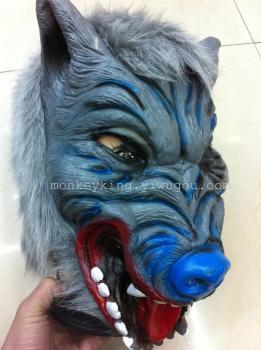 灰狼面具巫婆面具 鬼节面具 万圣节派对面具