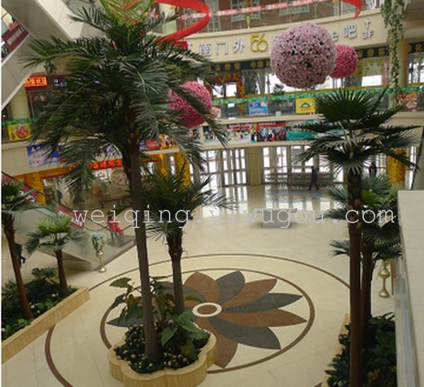 山东临沂东方城景观工程室内外仿真棕椰树假树供应厂家植物批发