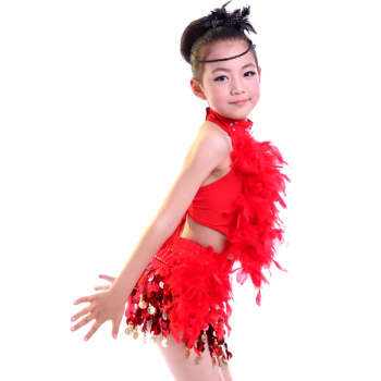 丁舞裙 现代舞六一儿童节舞蹈服训练服演出服 女装