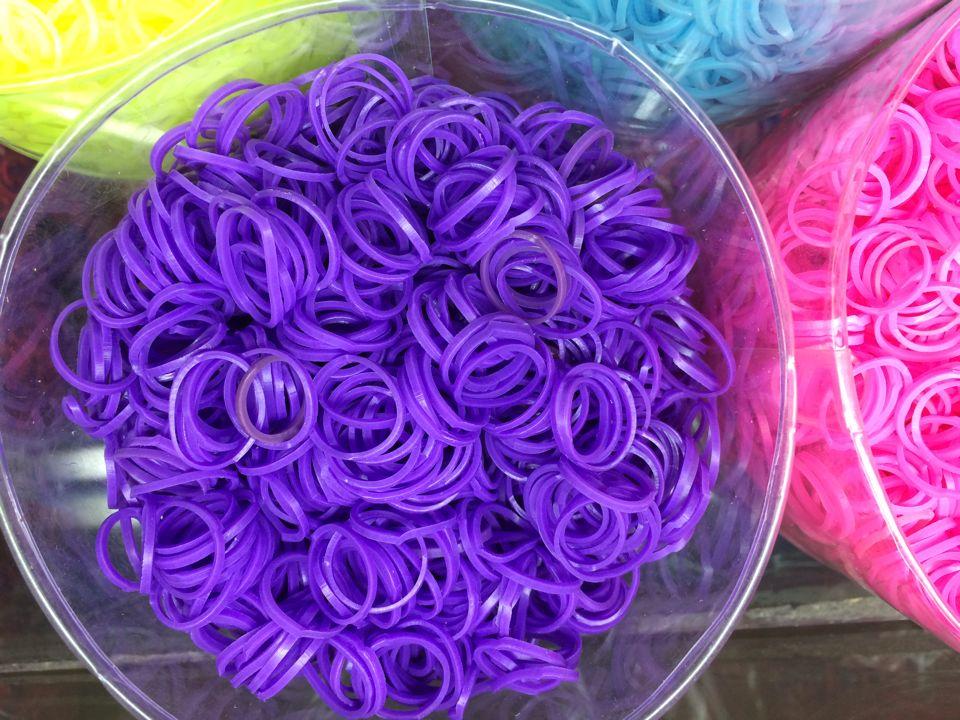 diy编织橡皮圈手链 手工制作橡胶手环 夜光橡皮筋 彩虹橡皮圈手带