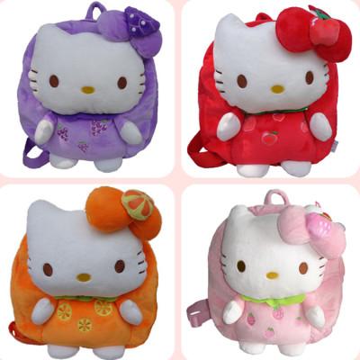 Plush Doll Korean cute cartoon hellokitty fruit backpack baby cat backpack baby backpack