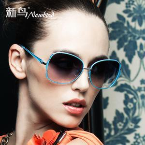 Brand new bird female 2014 sunglasses new authentic Enterobacter sakazakii box hipster sunglasses fashion star 5611