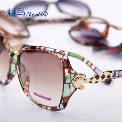 2014 new fashion sunglasses women's UV protection sunglasses women Europe and retro boom Joker thin glasses 1626