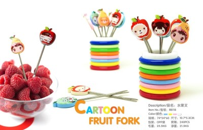 Fruit fork cartoon fruit fruit fork stainless steel fork RB118
