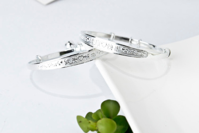 2014 Latest design bracelets Fashion baby's bangles 925 sterling silver jewelry BBS0002 (if fake- triple refund)