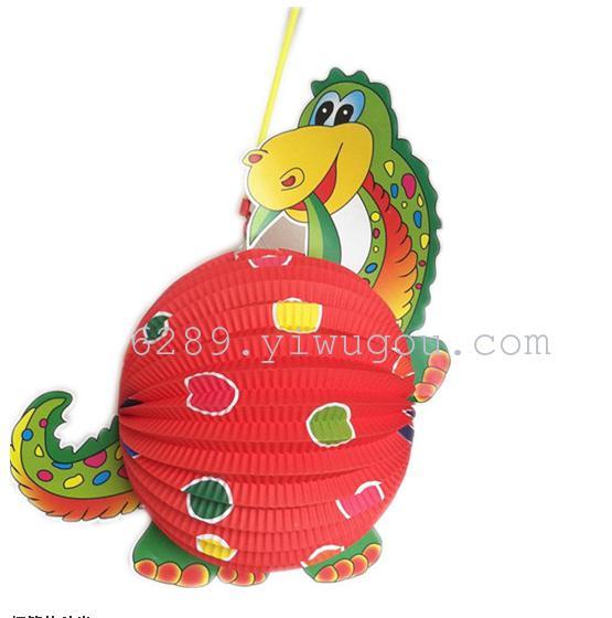 最新5款卡通儿童灯笼 折叠纸灯笼 动物灯笼大量批发 外贸 肉销