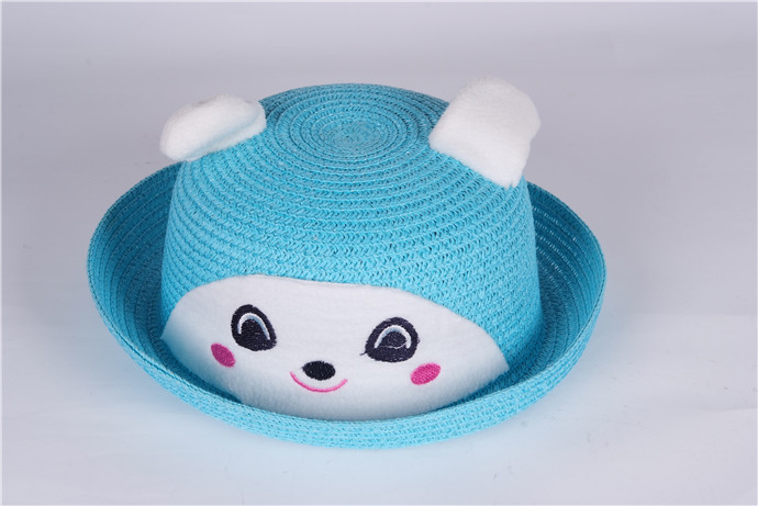 童帽夏款韩版男童女童宝宝动物卡通草帽遮阳帽图片