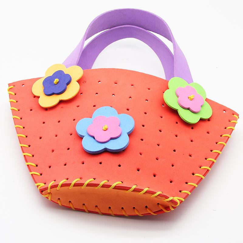 橙色eva包包 手工diy制作 创意家居用品
