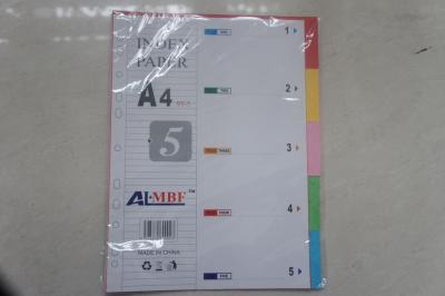 A4PP colored index paper pages 5 color sheet of plastic isolation sheet classification of glioma