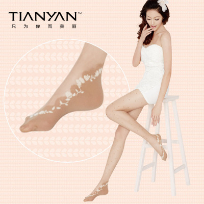 2016 new presale dot Jacquard tights pantyhose ladies socks boat socks ankle carved silk stockings