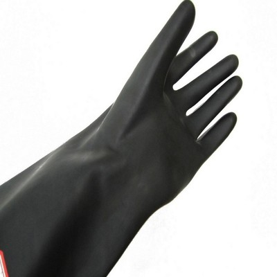 180 grams of acid and alkali resistant, oilproof and waterproof black Latex industrial gloves