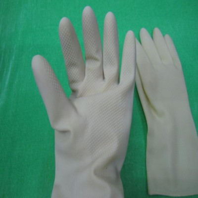 White LaTeX oil acid and alkali-resistant industrial protective working gloves