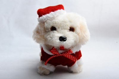Plush toy dog plush will move light Christmas dog dog dog plush dog