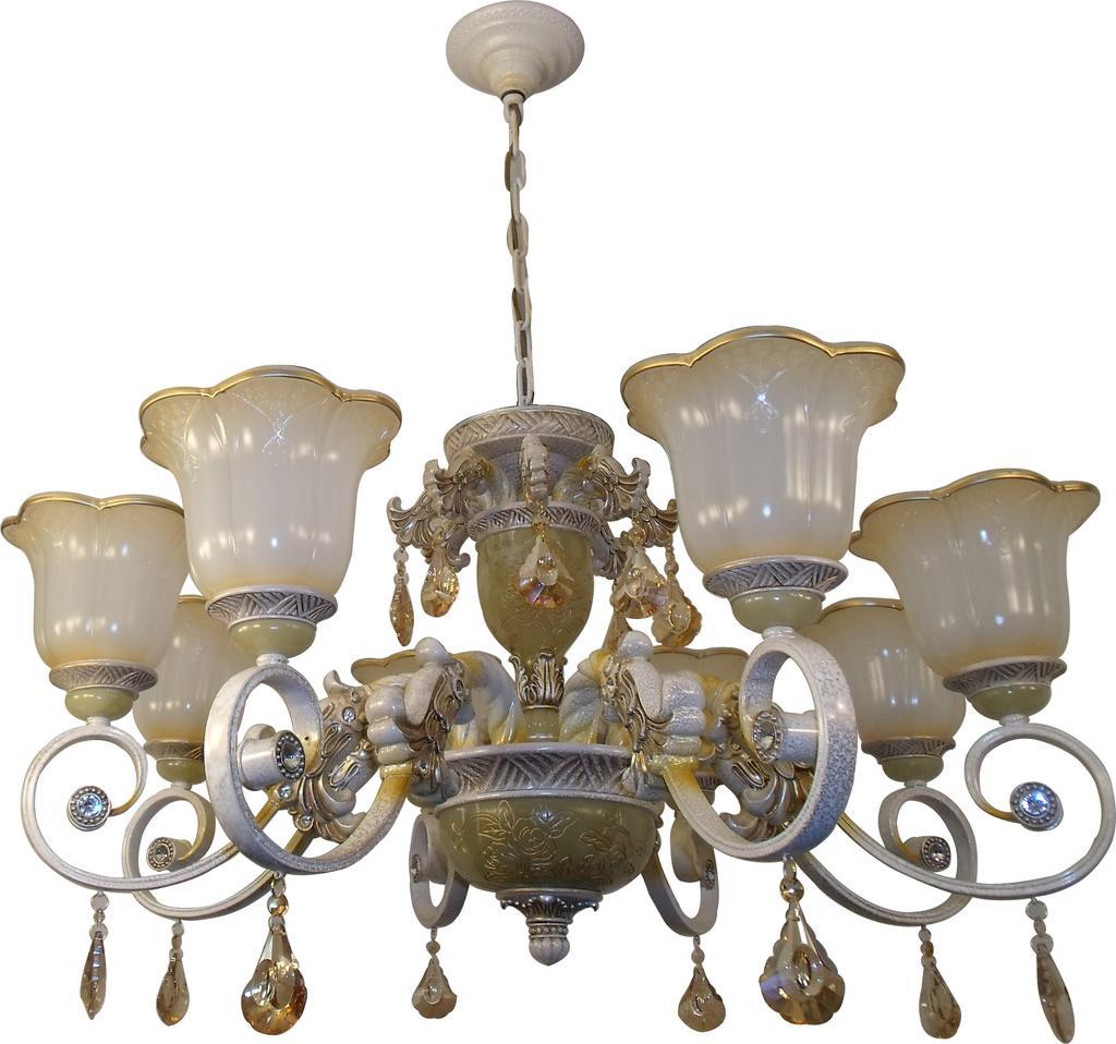 欧式吊灯简欧客厅灯饰 别墅现代铁艺卧室灯 具